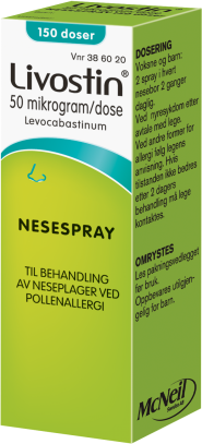 Livostin 50mg/dos nesespray for pollenallergi