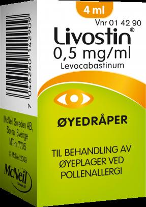 Livostin 0.5mg/ml øyedråper for pollenallergi