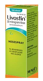 Livostin 50mg/dos nesespray for pollenallergi